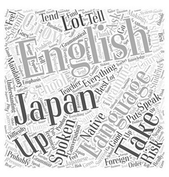 Spoken english course word cloud concept vector