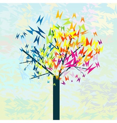 stylized tree butterflies vector image