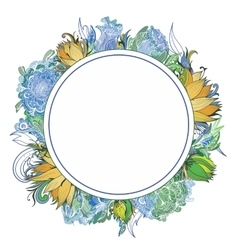 Summer Floral Wreath vector image