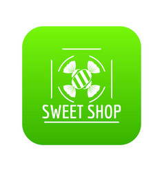 sweet shop icon green vector image