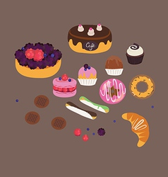 Sweets set vector