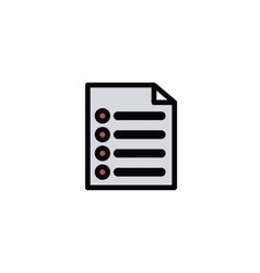 text file isolated icon design vector image