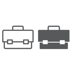 tool box line and glyph icon tool and maintenance vector image