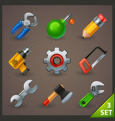Tools icon set-3 vector