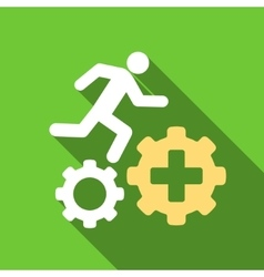 Treatment Process Flat Long Shadow Square Icon vector