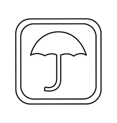 Umbrella silhouette symbol isolated icon vector