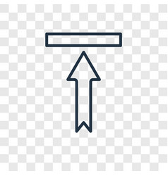 Up arrow concept linear icon isolated on vector