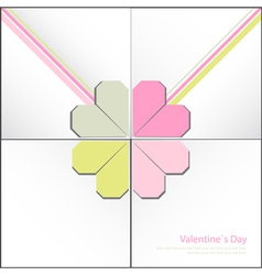 Valentine decorative card vector image