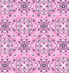 bandana seamless print vector image vector image