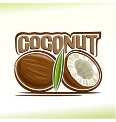 coconut still life vector image vector image