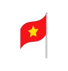 Flag of Vietnam icon isometric 3d style vector image