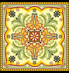 floral square ornament vector image vector image