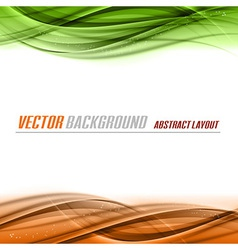 Green Orange vector image vector image