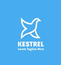 kestrel abstract sign emblem or logo vector image