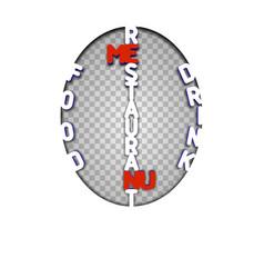 restaurant menu stencil vector image vector image