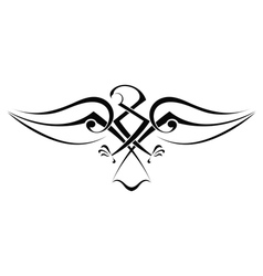 Tattoo eagle vector image vector image