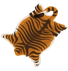 Tiger skin as a carpet vector image vector image