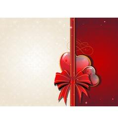 Valentines Day Retro card vector image