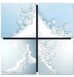 Abstract blue winter background vector image
