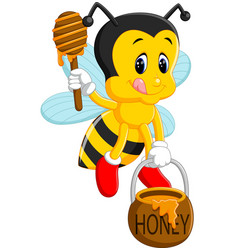 bee holding honey vector image