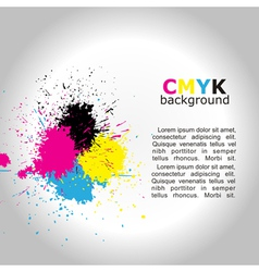 CMYK background vector image