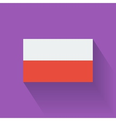 Flat flag of Poland vector image vector image