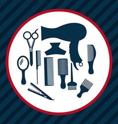 hair dressing vector image