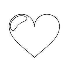 heart love romantic outline vector image