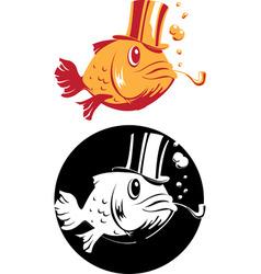 smoking fish vector image