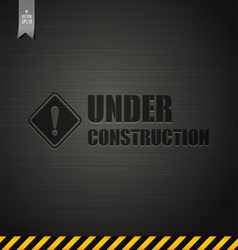 Under construction template background vector image vector image