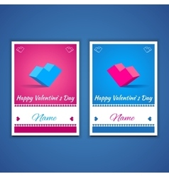 valentines and weeding postcards 001 vector image