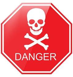 Warning danger sign vector image vector image