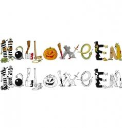 Halloween typography vector image vector image