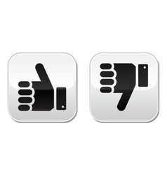 Like it Unlike buttons vector image vector image