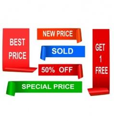 sale tag vector image vector image