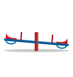 seesaw closeup isolated on white background vector image