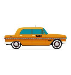 Taxi old car flat design vector