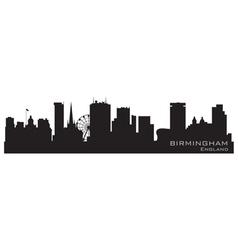 birmingham england skyline detailed silhouette vector image vector image