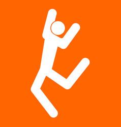 dancer stick white icon vector image