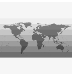 Gray World Map vector image vector image