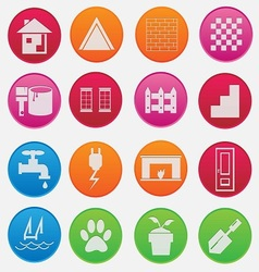 home icon gradient style vector image vector image
