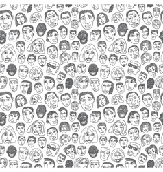 People faces seamless background vector image vector image