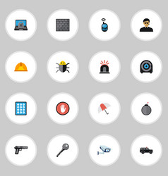 Set of 16 editable procuring icons includes vector