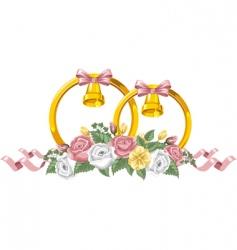 wedding decor vector image vector image