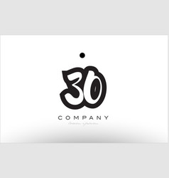 30 number logo icon template design vector