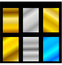abstract gold silver set of template vector image