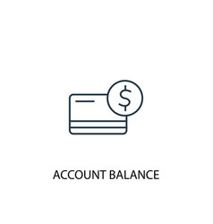 account balance concept line icon simple element vector image