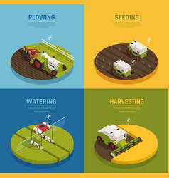Agriculture automation design concept vector