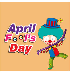 april fools day a jester balloon background vector image
