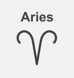 aries zodiac sign flat astrology on white vector image